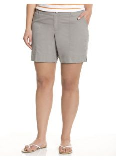 Lane Bryant Plus Size Twill short     Womens Size 24, Frost Gray