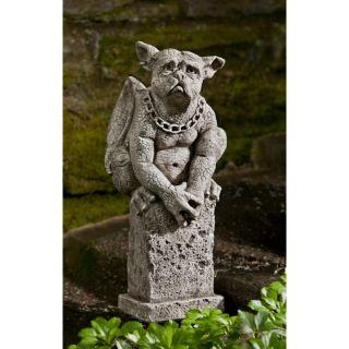 Campania International Oswald The Gargoyle Cast Stone Garden Statue   S 402 AL