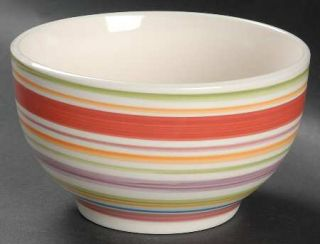 Gibson Designs Rosita Rainbow Soup/Cereal Bowl, Fine China Dinnerware   Multicol