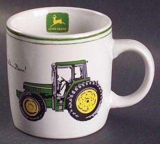 Gibson Designs John Deere (Tractor) Mug, Fine China Dinnerware   Green&Yellow, T