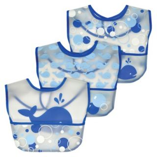 Green Sprouts Waterproof Pocket Bib  Whales (3 Pack)
