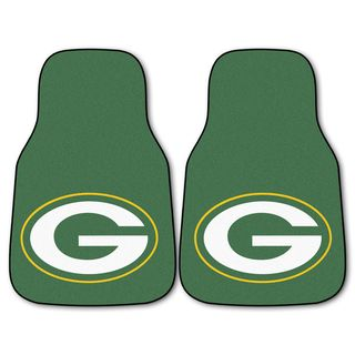 Fanmats Green Bay Packers 2 piece Carpeted Car Mats (100 percent nylonDimensions: 27 inches high x 18 inches wideType of car: Universal)