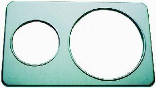 Duke Adaptor Plate   1, 6.5 in1, 10.5 in Holes   Stainless Steel