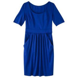 Merona Womens Ponte Elbow Sleeve Dress w/Pockets   Blueprint   M