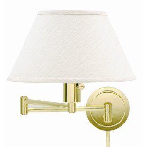 House of Troy HOU WS14 61 Universal Wall Swing Polished Brass