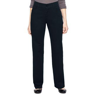 Lee Plain Front Straight Leg Twill Pants, Navy, Womens