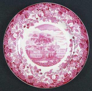 Wedgwood Harvard University Pink (No Gold Trim) Dinner Plate, Fine China Dinnerw
