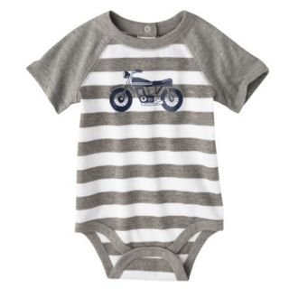 Circo Newborn Boys Motorcycle Bodysuit   Grey Stripe 18 M