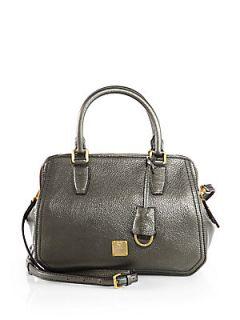 MCM First Lady Small Boston Bag   Dark Slate