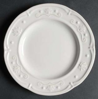 Jaclyn Smith Scalloped Floral White Salad Plate, Fine China Dinnerware   Traditi