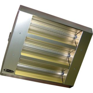 TPI Indoor/Outdoor Quartz Infrared Heater   25,298 BTU, 240 Volts, Stainless