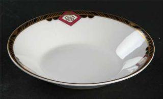 Spode Harvard Fruit/Dessert (Sauce) Bowl, Fine China Dinnerware   Black And Gold