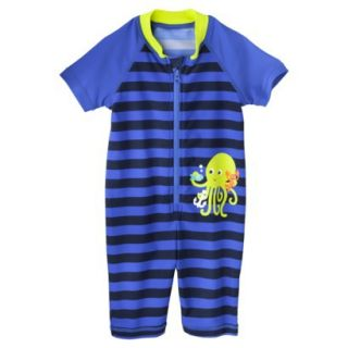 Just One You by Carters Infant Boys Octopus Full Body Rashguard   Royal 18 M