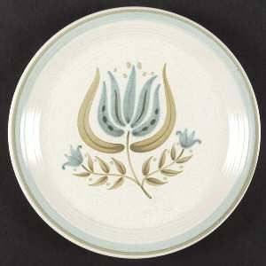 Franciscan Tulip Time Dinner Plate, Fine China Dinnerware   Blue/Green Tulip, Bl