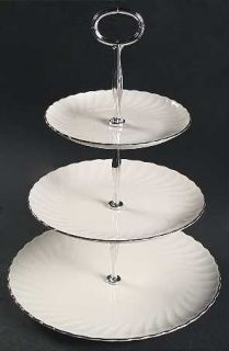 Syracuse Wedding Ring 3 Tiered Serving Tray (DP, SP, BB), Fine China Dinnerware