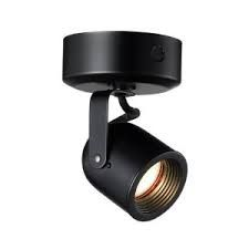 WAC Lighting LP808BK 12V 50W Surface Mount Spot Light with Canopy and Integral Magnetic Transformer Black