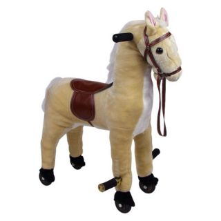Happy Trails Plush Walking Horse with Wheels and Foot Rest Multicolor   80