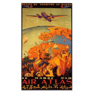 Trademark Global Inc Le Maroc Par Air Atlas Canvas Wall Art by Hainaut   18W x