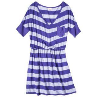 Mossimo Supply Co. Juniors V Neck Elbow Sleeve Dress   Blue Magic M(7 9)