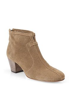 Aquatalia by Marvin K Xcellent Perforated Suede Ankle Boots