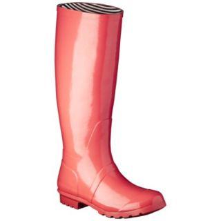 Womens Classic Knee High Rain Boot   Coral 8