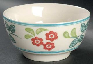 Johnson Brothers Meadow Daisy Soup/Cereal Bowl, Fine China Dinnerware   Red Flow