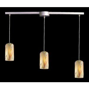 Elk Lighting ELK 544 3L MH MOLTEN 3 LIGHT PENDANT AND MOLTEN HONEY GLASS