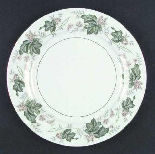 Noritake Daphne Dinner Plate, Fine China Dinnerware   Tan & White Flowers,Large