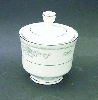 Fine China of Japan Diane Sugar Bowl & Lid, Fine China Dinnerware   Blue Flowers