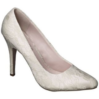 Womens De Blossom Selma Womens Lace High Heel Pump   Nude 6