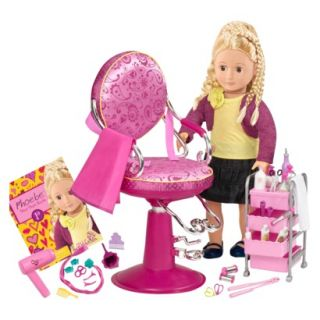 Our Generation Hair Grow Doll and Salon Set