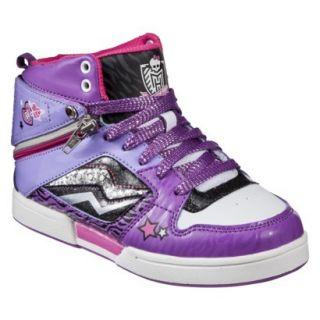 Girls Monster High High Top Sneaker   Purple 3