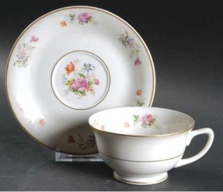 Royal Jackson Lord Patterson Smooth Edge Footed Cup & Saucer Set, Fine China Din