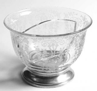 Cambridge Diane Clear (Stem 3122) Divided Mayonnaise Bowl with Sterling Base   S