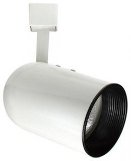 Elco Lighting ET639WW Track Light, Line Voltage PAR 30 Round Back Cylinder Track Fixture All White