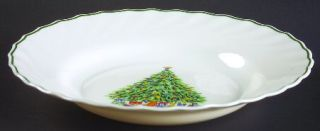 Salem Noel Rim Soup Bowl, Fine China Dinnerware   Tree Center,Porcelle