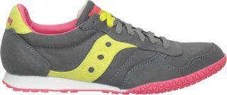 Womens Saucony Bullet Vegan   Grey/Yellow Casual Shoes