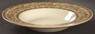 Johnson Brothers Mc Baine Large Rim Soup Bowl, Fine China Dinnerware   Flowers &