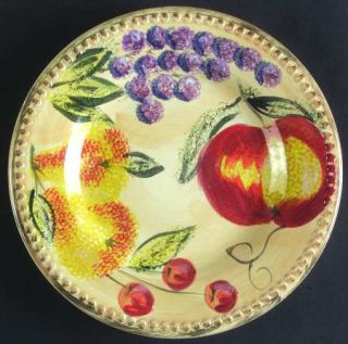 Tabletops Unlimited Frutas Salad Plate, Fine China Dinnerware   Embossed,Grapes,