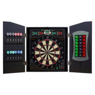 DMI Sports E Bristle Cricket Maxx 5.0 Electronic Dartboard Cabinet Set