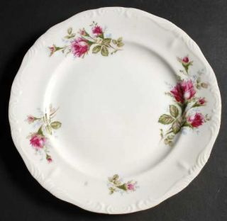 Fine China of Japan Royal Rose Luncheon Plate, Fine China Dinnerware   Moss Rose
