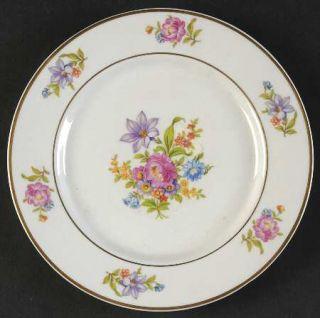 Royal Jackson Deanna Bread & Butter Plate, Fine China Dinnerware   Floral Rim &