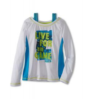 Puma Kids PUMA Live Two fer Tee Girls T Shirt (White)