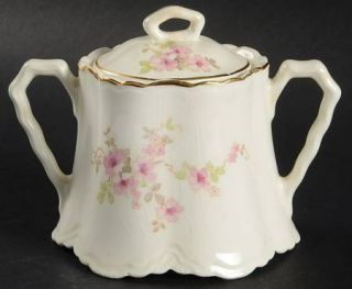WS George 36725 Sugar Bowl & Lid, Fine China Dinnerware   Radisson, Pink Flowers