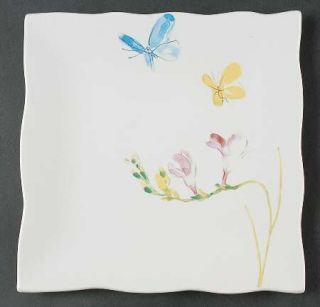 222 Fifth (PTS) Butterfly Flight Salad Plate, Fine China Dinnerware   Butterflie