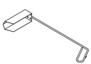 Pitco Crumb Scoop, Designed to Fit Between Gas Fryer Tubes