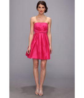 Donna Morgan Strapless Shantung W Belt Dress Womens Dress (Red)