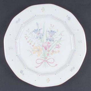 Sarma Studios Victorian Flowers Dinner Plate, Fine China Dinnerware   Floral, Pi
