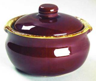 Nelson McCoy Brown Drip Sugar Bowl & Lid, Fine China Dinnerware   Dark Brown Dri