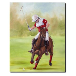 Trademark Global Inc Horse of Sport I Canvas Art by Michelle Moate Multicolor